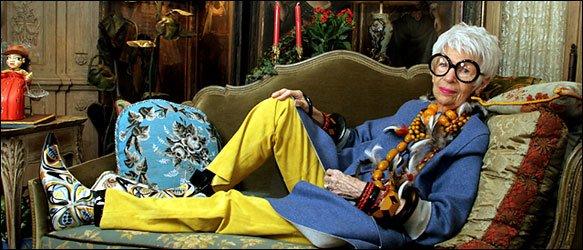 Iris Apfel, la nonagénaire la plus branchée de la planète...